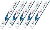 EZARC セーバーソーブレード 全長150mm 18山 鉄・ステンレス・非鉄金属用 替刃 R622PT (5本入)