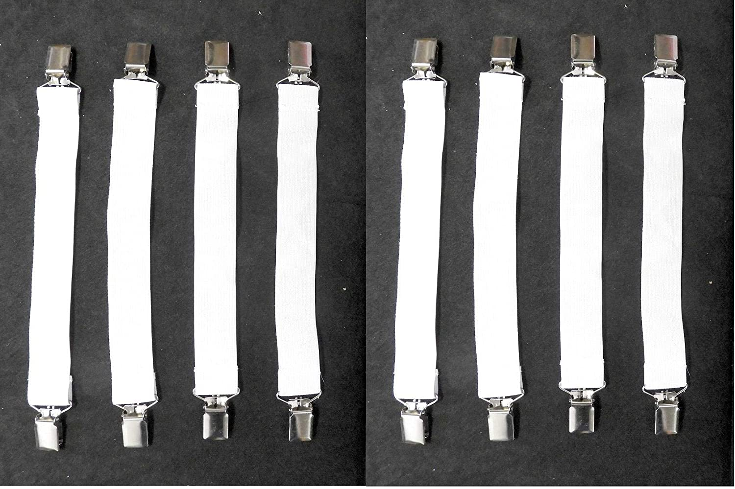 Suspenders Clasps Clips 8 Bed Sheet Grippers Fasteners Gripper Straps
