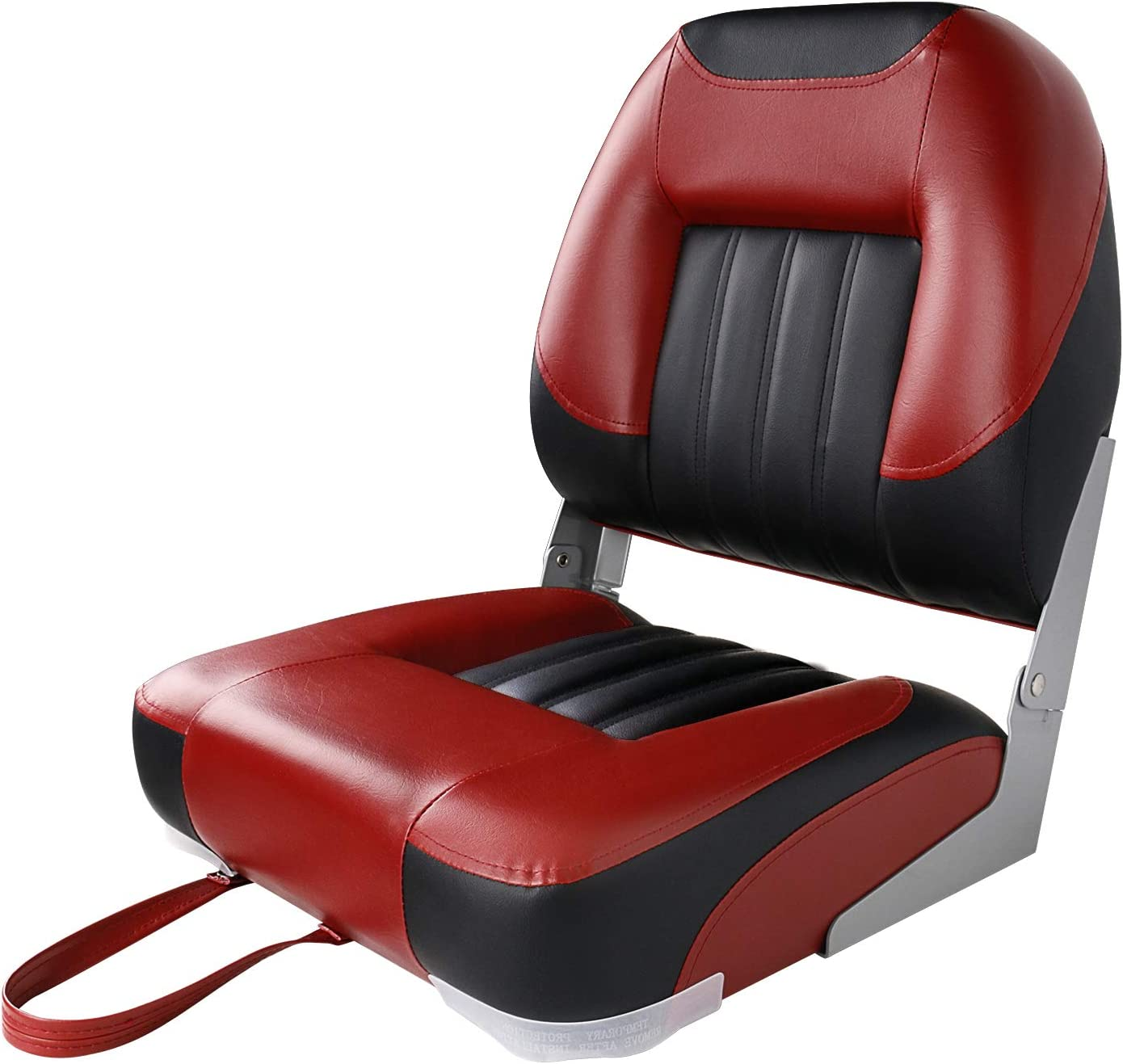 XGEAR Low Back Boat Seat, Fold-Down Fishing Boat Seat
