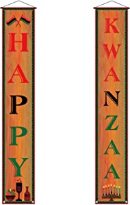 Sunwer Kwanzaa Decoration,Happy Kwanzaa Banner,African Heritage Holiday Party Celebration Decor for Home Office