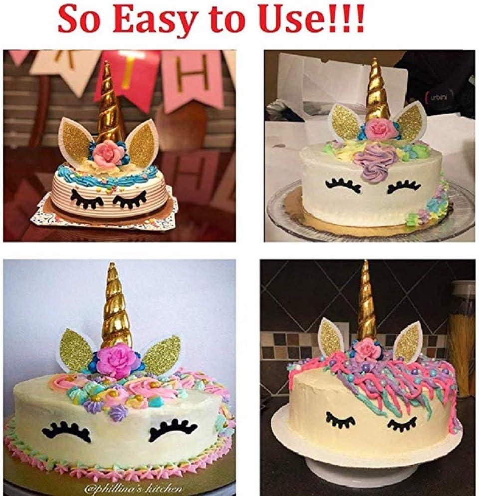 Decoraci/ón para tarta con dise/ño de unicornio con pesta/ñas MEANTOBE baby shower boda para fiesta de cumplea/ños