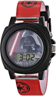 Star Wars Kids DAR3518 Darth Vader Talking Digital Display Watch With Red Rubber Band