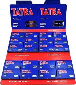 100 Tatra Platinum Double Edge Razor Blades