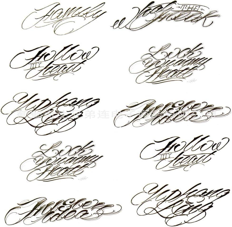 9pcs pegatinas de tatuaje a prueba de agua pequeñas pegatinas ...
