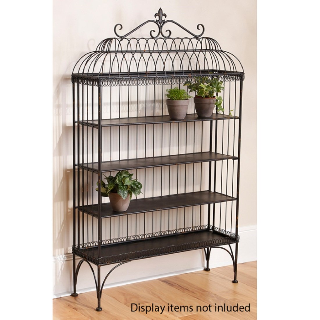 60'' Black Garden Gate Shelf Furniture by Raz