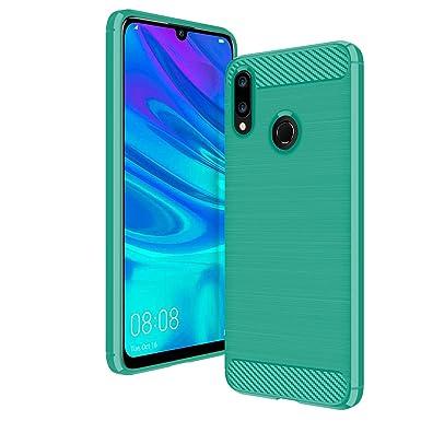 new product 55de1 72865 AIFIVE Huawei P Smart 2019 Case, Shock Absorption Cover Soft TPU Anti  Scratch Carbon Fiber Case for Huawei P Smart 2019 (Green)