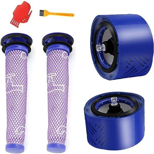 Supon HEPA kit de post-filtro V7 V8 y prefiltro V6 V7 V8, kit de filtro de repuesto para Dyson V8 Animal y Absolute aspiradora de batería, aspiradora inalámbrica: Amazon.es: Hogar