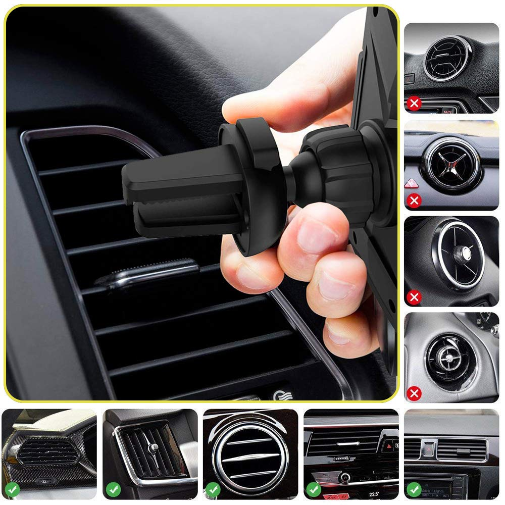 Fast QI Wireless Car Charger Infrared Phone Holder Automatic Opening//Closing Charging Holder Black,Compatible for iPhone Xs//XR//X //8 Samsung Galaxy S9 S9 Plus S8 Plus Note 8 5 5XXXX 4351569510