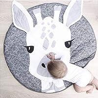 Oenbopo Cartoon Giraffe Cotton Ground Rug Kids Baby Soft Thickening Creeping Carpet Play Mat