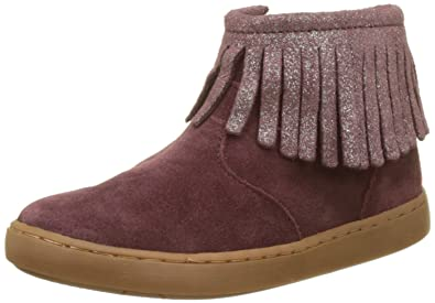 Shoo Pom Play Fringe, Bottines Classiques Fille, Rouge (Berry/Platine), 32 EU