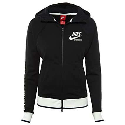 c8e054646d7e Amazon.com  NIKE Womens W NSW Hoodie FZ Fleece Archive 893638-010 M ...
