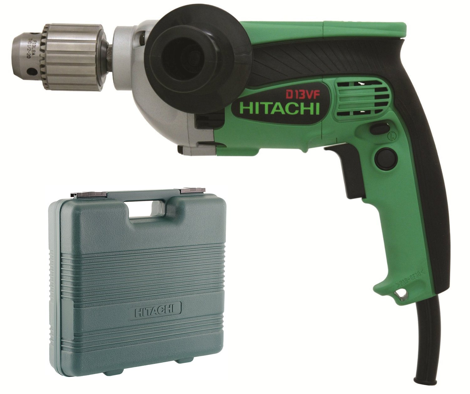 Hitachi D13VFR 9.0 Amp 1 2 in. EVS Variable-Speed Drill Renewed