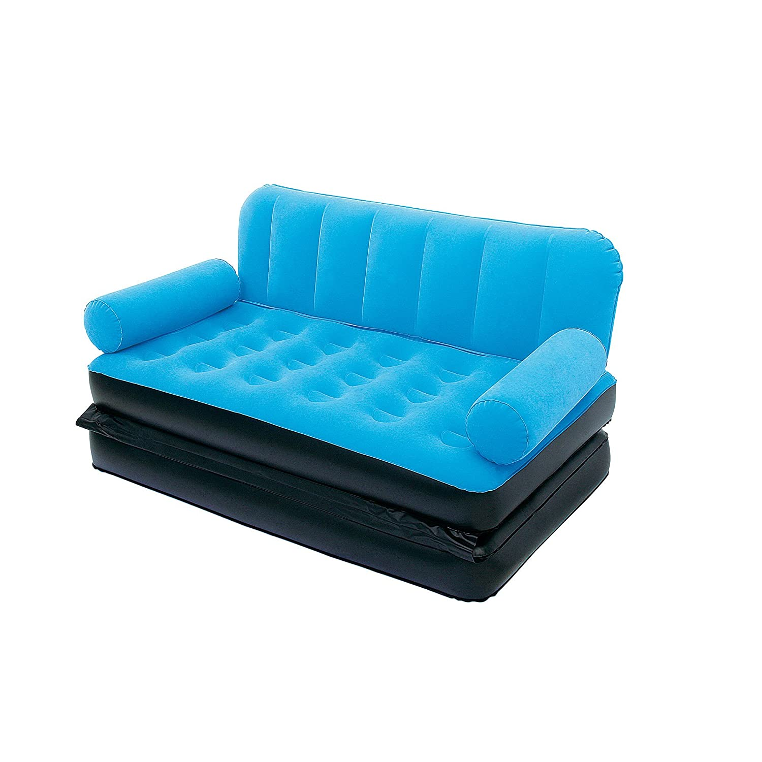 Karmax Bestway Three Seater Sofa cum Bed Blue Amazon