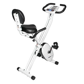 SportPlus SP-HT-1004-iE Bicicleta Estática Plegable con Control de Aplicaciones,