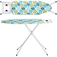 Zizer Self Standing - Extra Large Foldable Ironing Board with Ironing Table with Iron Stand (IroningBoard-Turqoise) (Turqoise) (Turquoise)