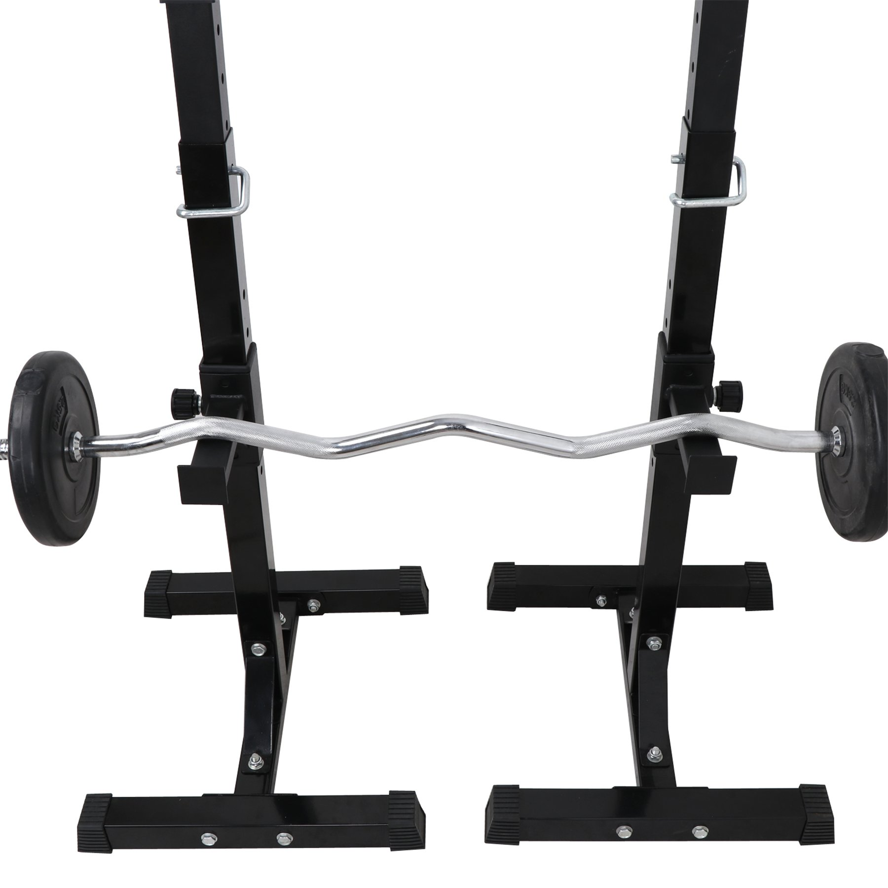 F2C Max Load 550Lbs Pair of Adjustable 41''-66'' Rack Sturdy Steel Squat Barbell Free Bench Press Stands Gym/Home Gym Portable Dumbbell Racks Stands (one Pair/Two pcs) by F2C (Image #4)