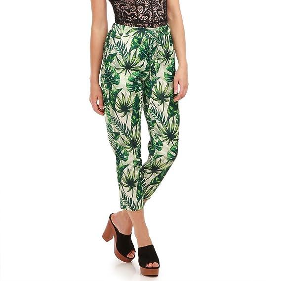 La Tropical Modeuse Fluide à imprimé 78 Pantalon Femme rwr0A