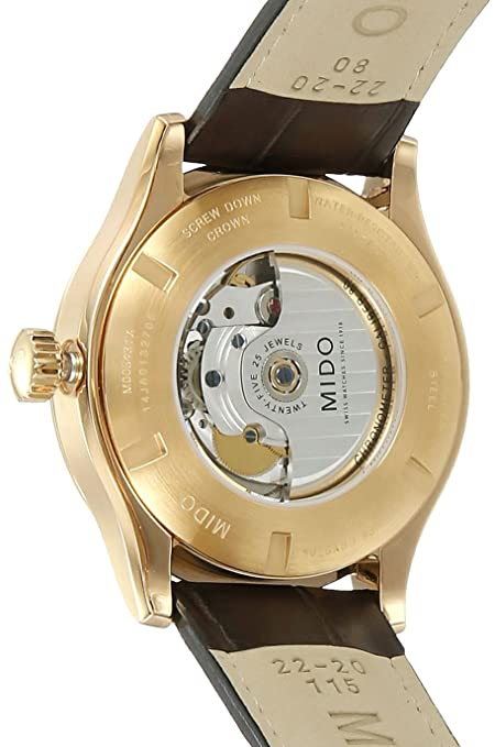Amazon.com: Mido Multifort Gent Leather Automatic Analog Mens Watch M005.431.36.031.00: Watches