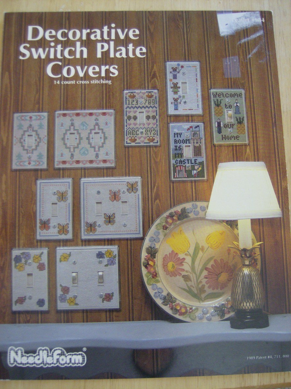 Decorative Switch Plate Covers 14 Count Cross Stitching Nancy
