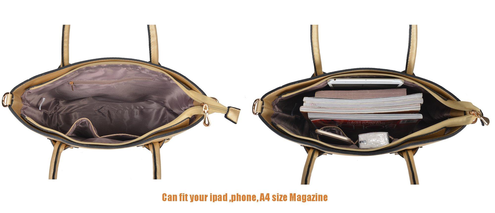 Women Handbag Purse Hobo Faux Leather Messenger Bag Clutch Satchel Bag 3 Piece Gift Set by KasPala (Image #5)