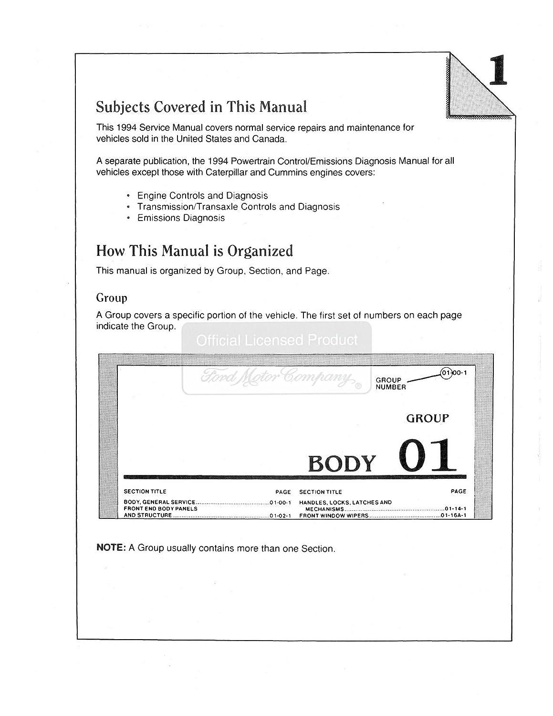 Bishko Automotive Literature 1994 Ford Truck Aerostar Engine Diagram Explorer Ranger Shop Service Repair Manual Cd