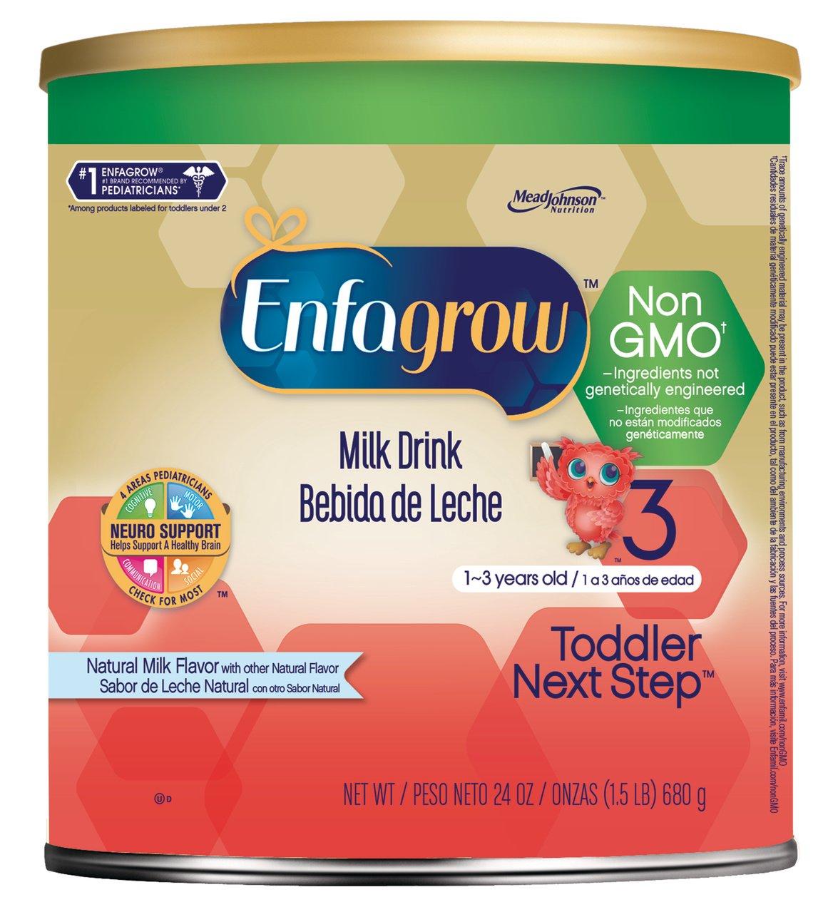 Enfagrow Toddler Natural Milk Non GMO Milk Drink, 24 Ounce (Pack of 4)