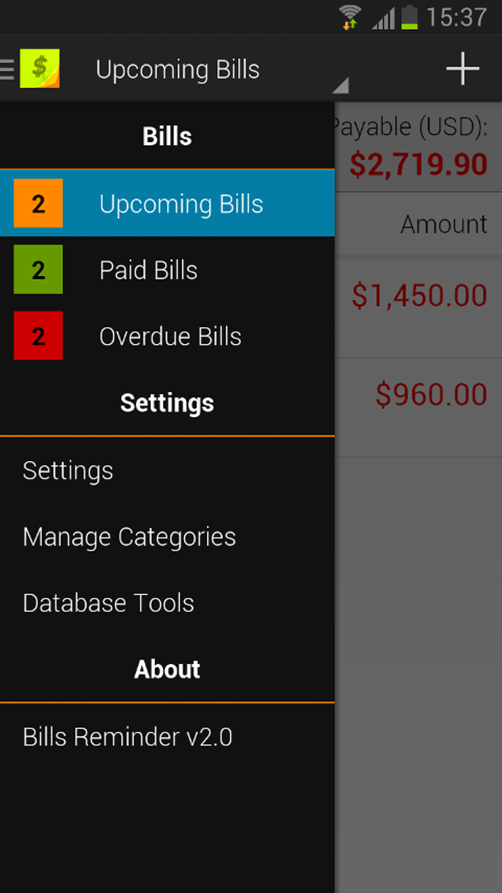 Amazon com: Bills Reminder: Appstore for Android