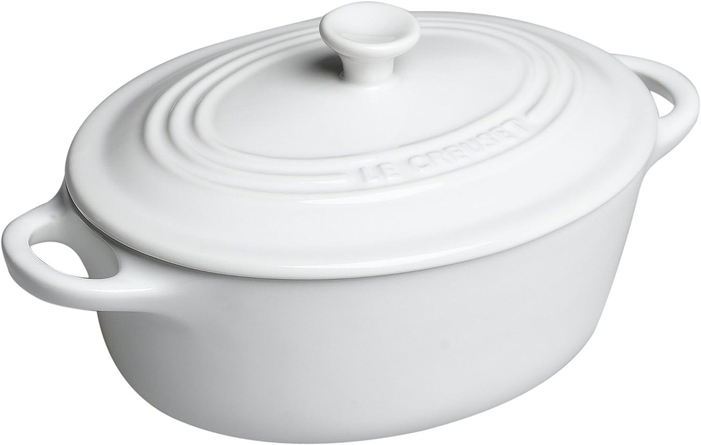 Le Creuset Stoneware 12-Ounce Mini Oval Cocotte White