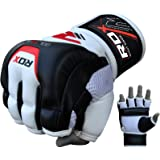 RDX MMA Handschuhe Kamfsport UFC Boxsack Sparring Freefight Rindsleder Grappling Gloves Training Sandsack Punchinghandschuhe