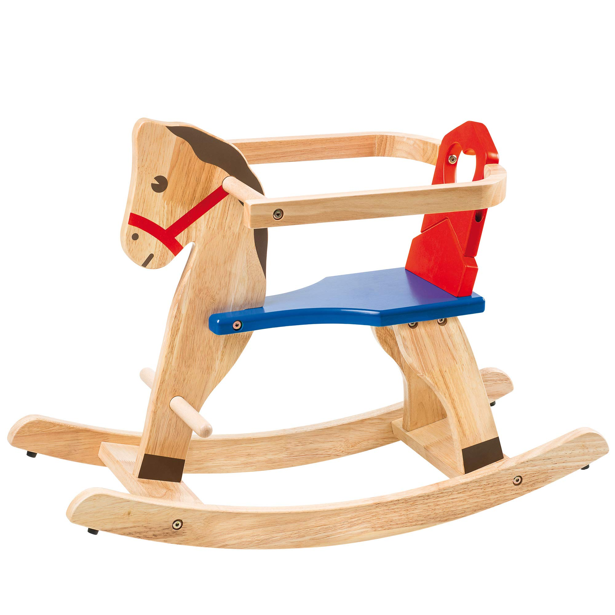Slow Toys Selegiochi Rocking Horse, Brown, Blue, Red, nv39582