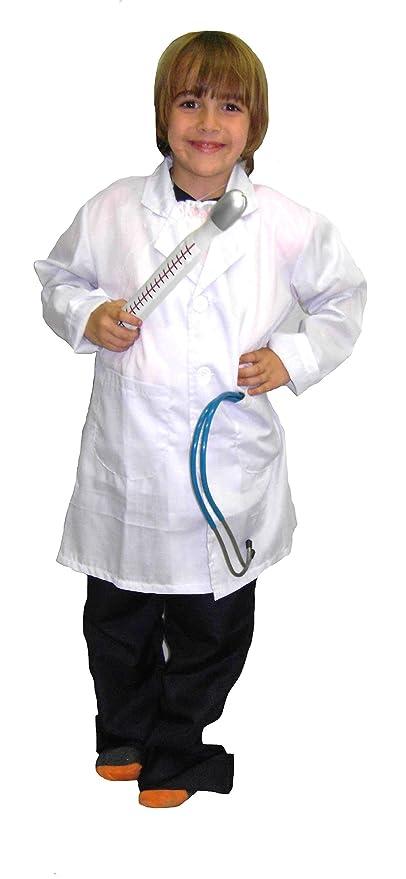 EL CARNAVAL Disfraz Bata Médico Talla de 6 a 8 años: Amazon.es: Hogar