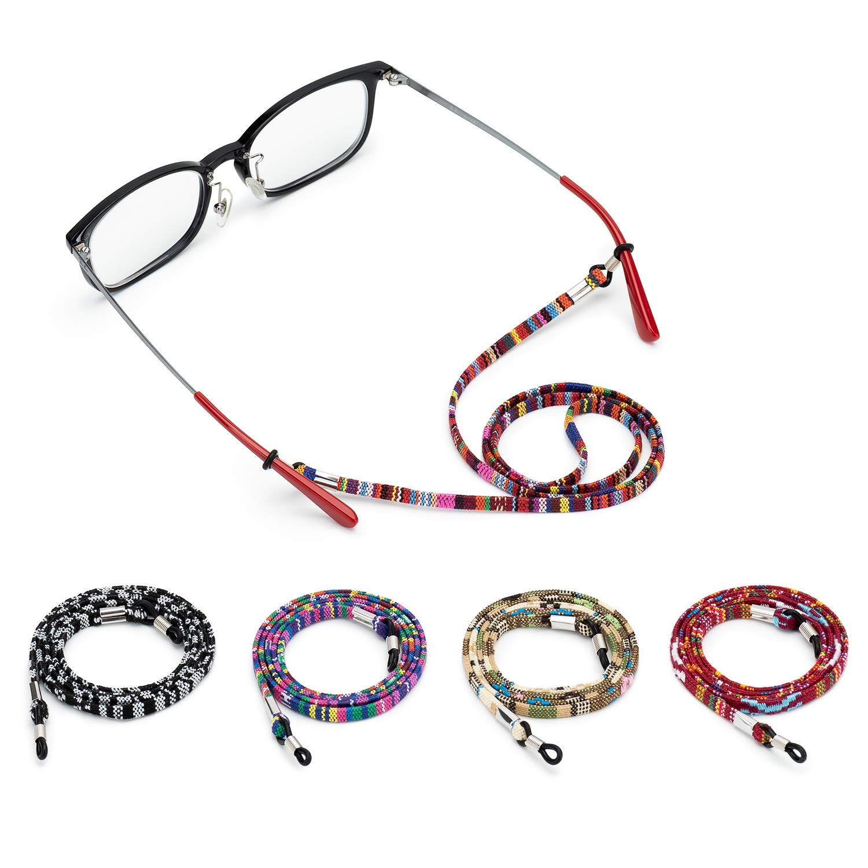 Alfzero Sunglass Straps Eyewear Ret Eyeglass Holder Chain Cord Necklace Lanyard Eyeglass Strap Eyeglass Retainer Eyewear Holder Glasses Straps Eyewear Holder by Alfzero