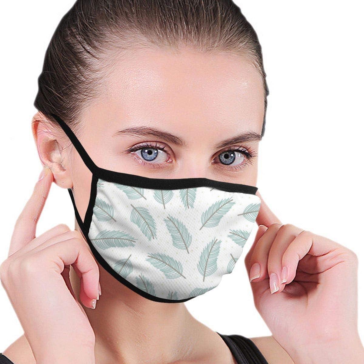 Dataqe - Mascarillas para la Cara de Plumas de Color Verde Claro para protección contra el Polvo, algodón, Lavable, Reutilizable, Universal para Hombres y Mujeres