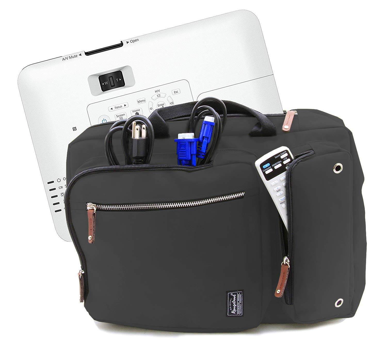 Rangeland Convertible Projector Case Compatible with VS250 / VS350 / Home Cinema 1060/660 / Pro EX9220 / PowerLite 1781W and More (Dark Grey)