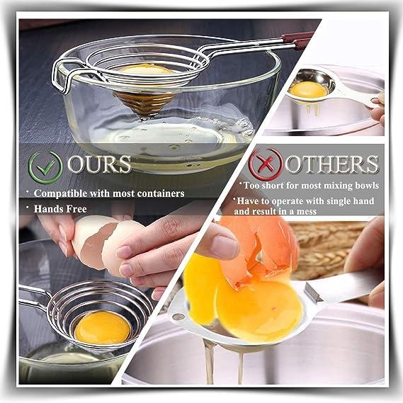Separador de yemas de Huevos, Proteínas separador Calidad Alimentaria Divider 304 Separador de Huevo de Cocina en Acero Inoxidable
