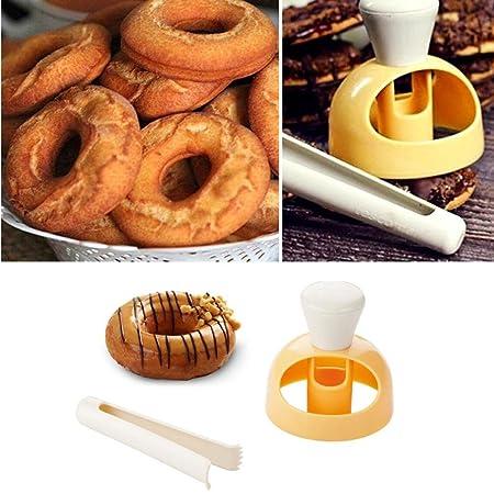 Bakery Donut Doughnut Maker Cutter Mold Fondant Cake Bread Desserts DIY Tools UK