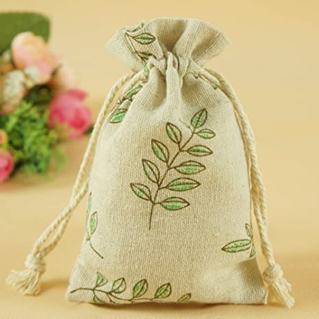 Burlap Bags Jewelry Coin Pouch DreamsEden Cute Zoo Themed Drawstring Gift Bag 10 Pcs
