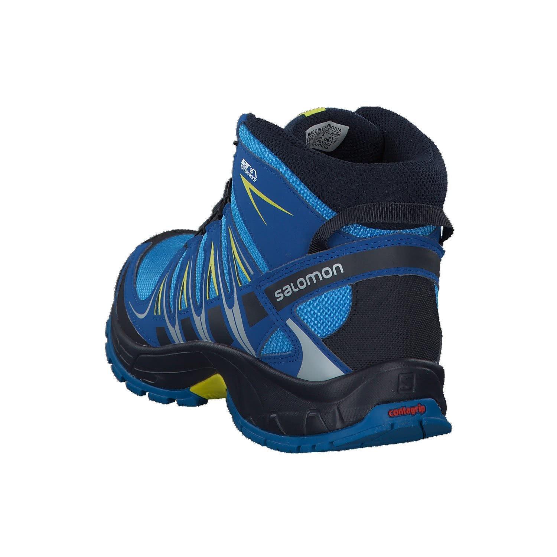 Salomon XA Pro 3D Mid CSWP J, Stivali da Escursionismo Unisex-Bambini, Multicolore (Indigo Bunting/Night Sky/Sulphur SP 000), 38 EU