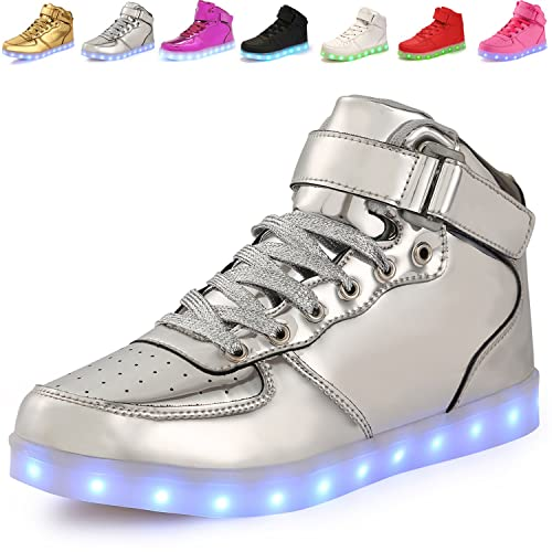 f07a86024ac9 ANLUKE Kids High Top Light Up LED Shoes 11 Colors Sneakers as Gift for Boys  Girls