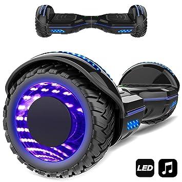 """Patinete Eléctrico 6.5"""" con Luces de Flash Ruedas, Luces LED, Monopatín Scooter con"""