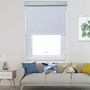 Allesin Blackout Roller Shades Window Shades and Cordless Blinds for Home & Office, White, 36 x 72 Inch