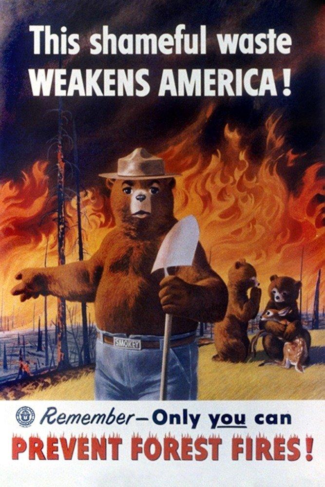 Smokey Bear – weakens America – ヴィンテージポスター 36 x 54 Giclee Print LANT-79835-36x54 36 x 54 Giclee Print  B06XZF9NG4