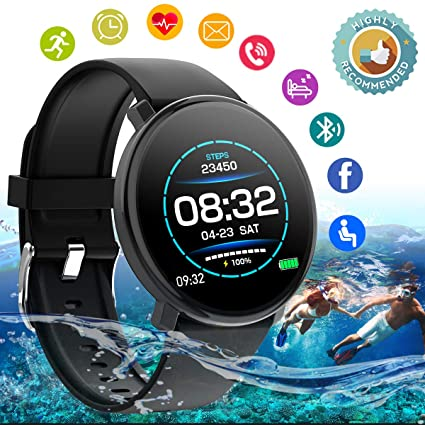 Smart Watch,Fitness Watch Activity Tracker with Heart Rate Blood Pressure Monitor IP67 Waterproof Sports Fitness Tracker Watch Smart Bracelet ...