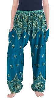 9a4aaebad6c CFR Women s Harem Pants Boho Aladin Loose Fit Yoga Bloomers Sport ...