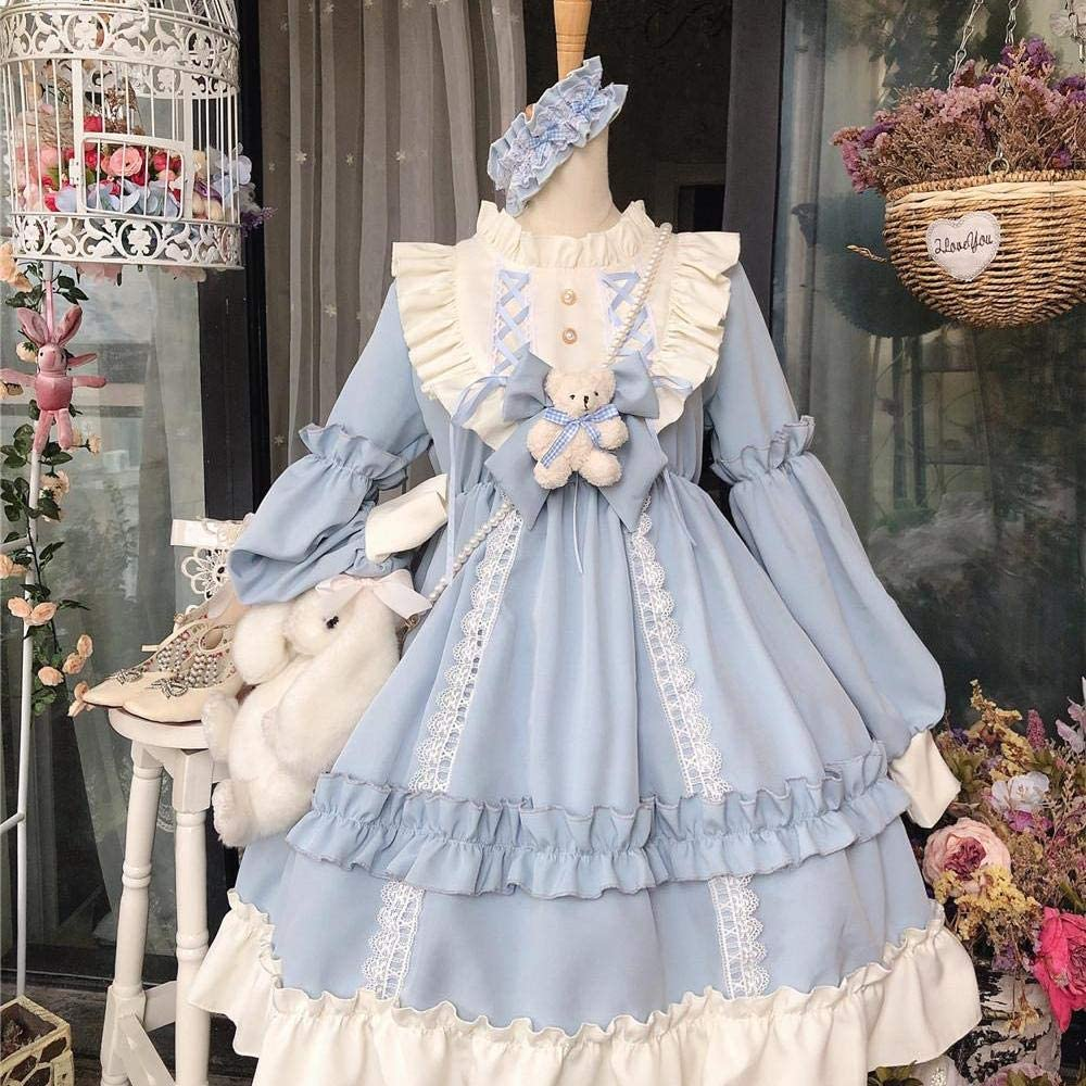 Details about  /Miracle Warm Women Lolita Priness Chiffon Dress Cosplay Printed Costume Jin20