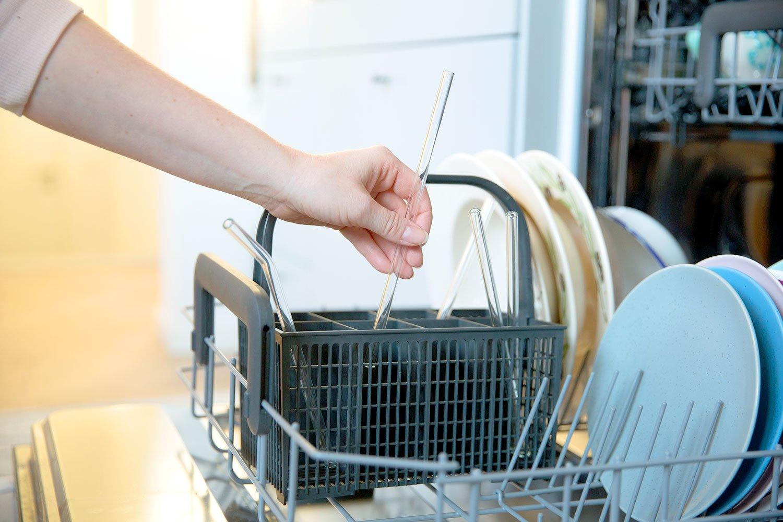 Mix Paquet brosse de nettoyage garantie sans plastique r/ésistant bon pour lenvironnement lavable en lave-vaisselle HALM PAILLE EN VERRE r/éutilisable lot de 4 diff/érentes tailles de pailles