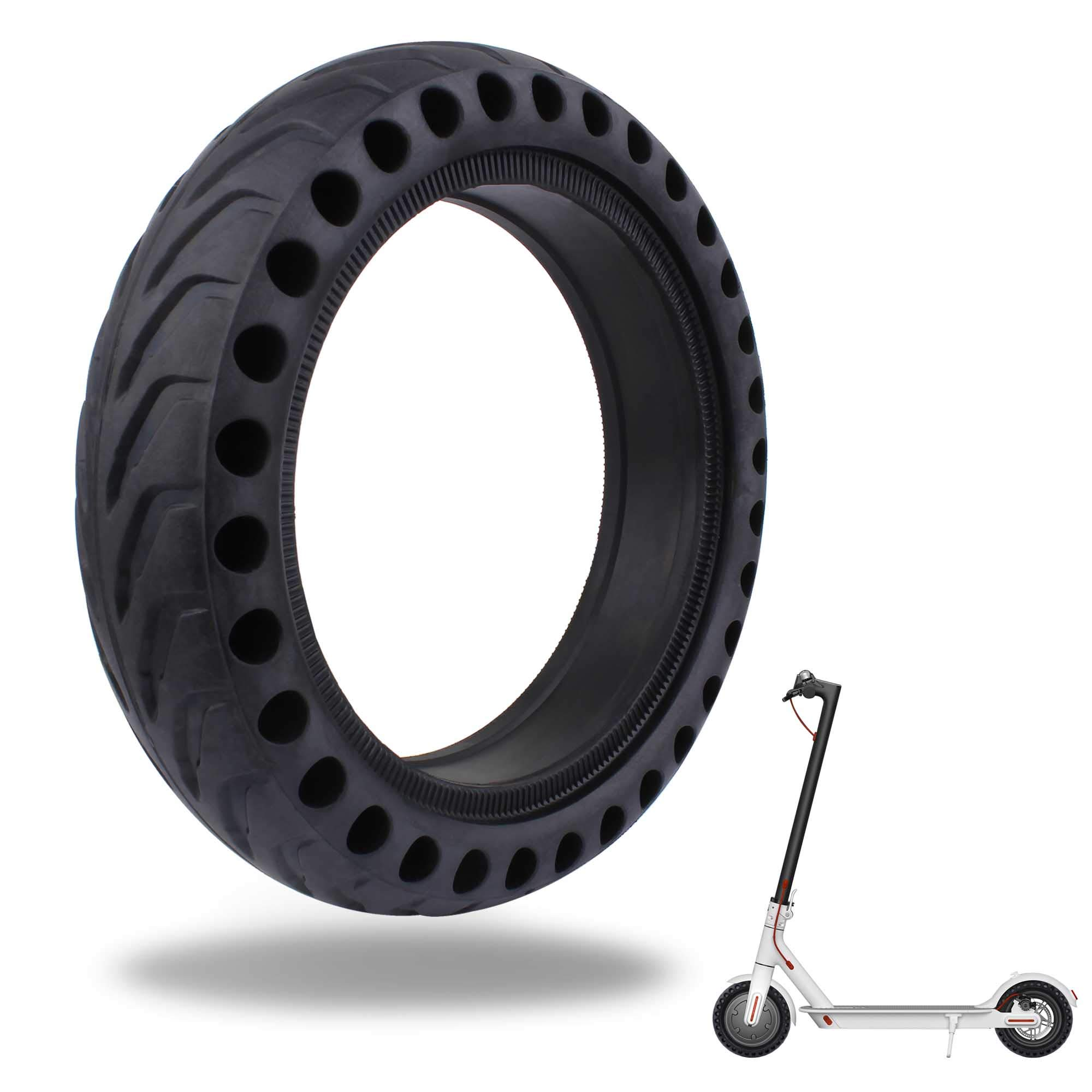 TOMALL Honeycomb Rubber Damping Solid Tire 8.5 Inch Front/Rear Tire Wheel Replacement for Xiaomi M365 Electric Scooter by TOMALL
