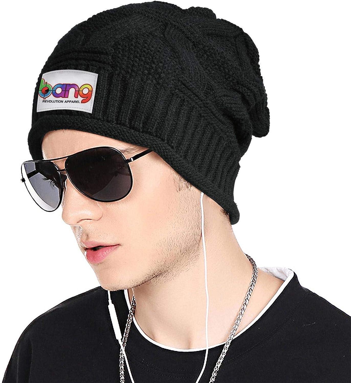 Cool Winter Warm Knitting Caps TEedhkf3 Mens Chunky Soft Stretch Knit Hat Bang-Influencer-Program-Logo