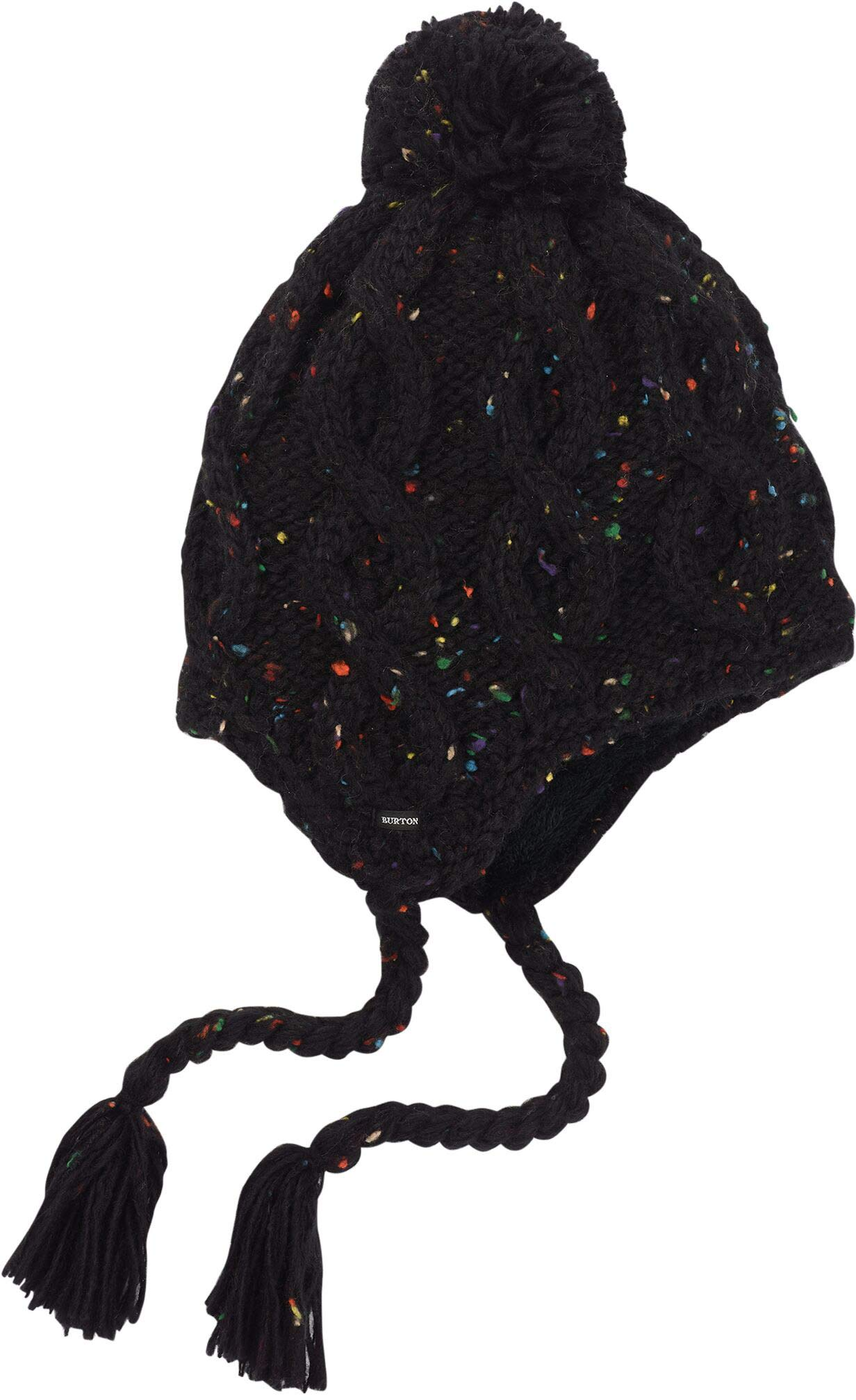Burton Women's Chloe Ear Flap Beanie, True Black, One Size by Burton