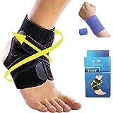 Yunsunshine Cavigliere,Regolabile Supporto Stabilizzatore Ortopedico Caviglia Cinturino Alla Caviglia Tendini Sport e il Fitness